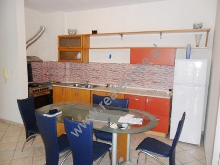 Apartament me qera ne rrugen e Kosovareve ne Tirane. Ndodhet ne katin e 12-te ne nje pallat te ri,