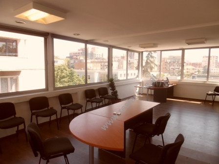Office space for rent close to Blloku area in Tirana. The office is located on the 4th floor of a n