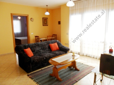 Apartment for rent in Karl Topia complex building in Tirana. It is situated on the 8-th floor in a