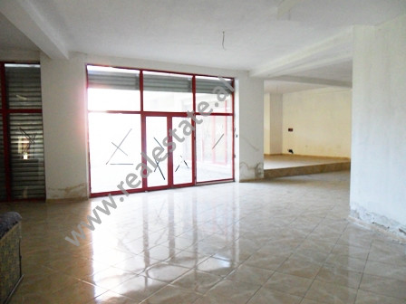 Store for sale in front of Nene Tereza Hospitality in Tirana.