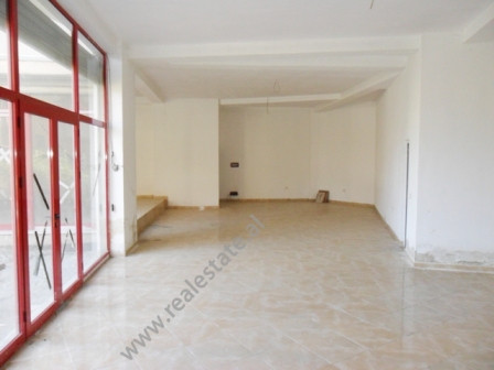 Store for rent in front of Nene Tereza Hospitality in Tirana.