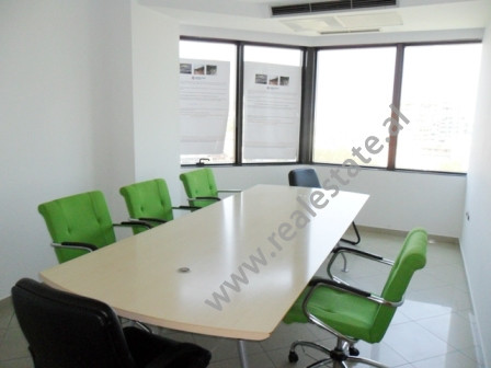 Office for rent in Deshmoret e Kombit Boulevard in Tirana. It is situated in a business center on t