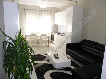 Modern apartment for rent on the side of Bajram Curri Boulevard in Tirana.