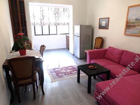One bedroom apartment for rent close to Rinia Park in Tirana. It is situated on the 3-rd floor of a