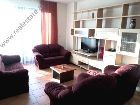 Two bedroom apartment for rent close to Artificial Lake in Tirana. It is situated on the 5-th floor