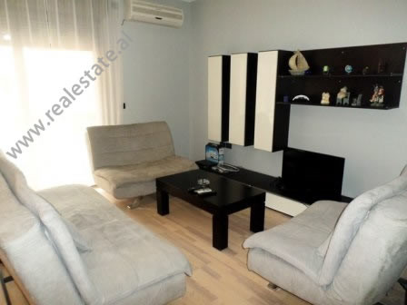 Two bedroom apartment for rent in Bardhok Biba Street in Tirana. It is situated on the 5-th floor o