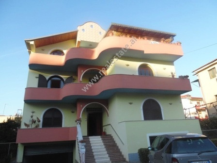 Four storey villa + basement for rent in Artan Lenja street in Tirana.