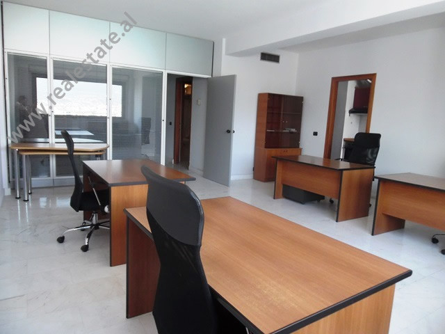 Office for rent in Abdi Toptani Street in Tirana.  It is situated on the 12-th floor in a new buil