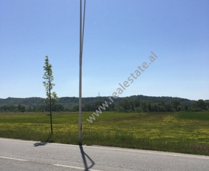 Land for sale in Tirana-Rinas highway near Nene Tereza Airport. The land has a surface of 11.