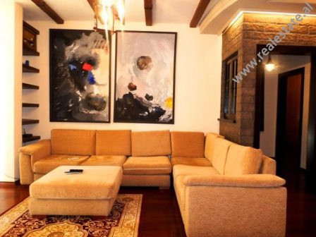 Luxurious apartment for rent in Mahmut Fortuzi Street in front of Sami Frasheri Gymnasium. The flat
