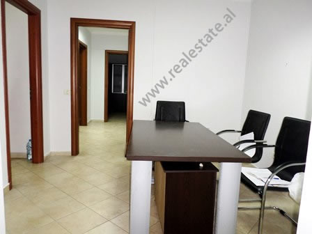 Office for rent in Blloku area in Tirana. It is situated on the 5-th floor of a new building that o
