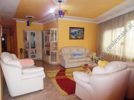Three bedroom apartment for rent in Mahmut Fortuzi Street in Tirana. It is situated on the 2-nd flo