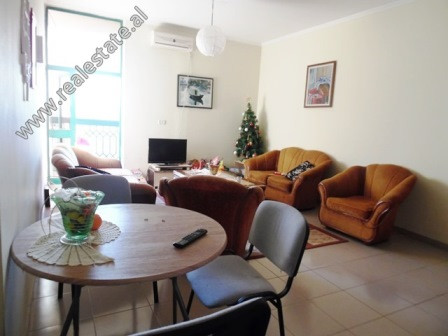 One bedroom apartment for rent in the beginning of Kavaja Street in Tirana. It is situated on the 8