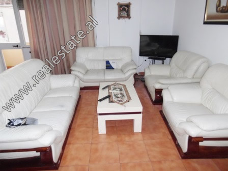 Three bedroom apartment for rent close to Asim Vokshi High School in Tirana. It is situated on the