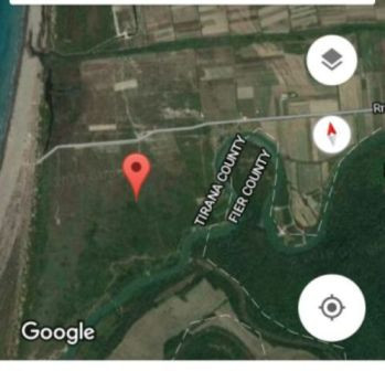 Land for sale in Kavaja District in Albania.