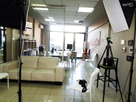 Office for rent in Bllok area in Tirana.  The office is situated on the second floor of a new buil