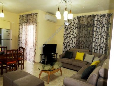 Two bedroom apartment for rent close to Ndrek Luca in Tirana. The apartment is located at the fourt
