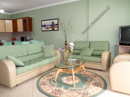 One bedroom apartment for rent Siri Kodra Street in Tirana, Albania.  Is situated on the 4-th floo