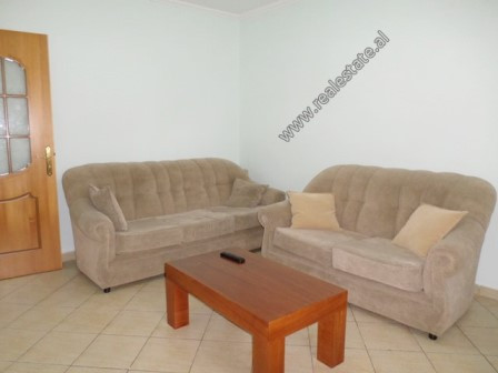 One bedroom apartment for rent in Fortuzi Street in Tirana. It is situated on the 1-st floor of an