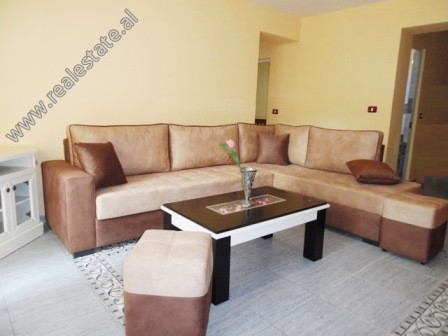 Onebedroom apartment for rent in Beqir Rusi Street in Tirana.  It is located on the 2nd floo