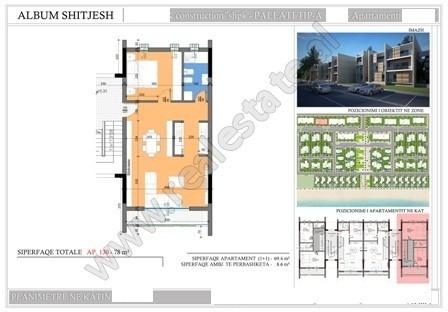 Apartament 1+1 ne shitje ne Hamallaj tek Gjiri i Lalzit.  Ndodhet ne katin e I-te nje ndertese tre