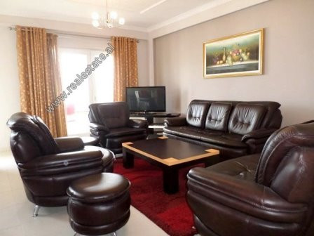 Three bedroom apartment for rent in Kodra e Diellit Residence in Tirana. It is located on the 4th f