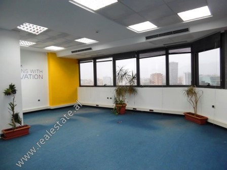 Office for rent close to the Pyramid of Tirana. It is located on the 11-th floor of a very prestigi