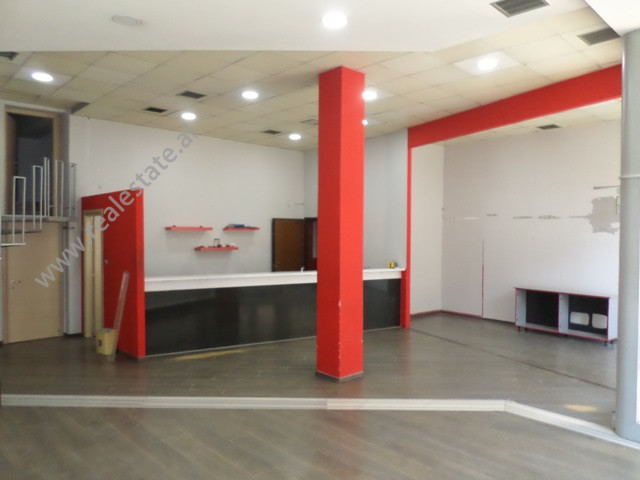 Store for rent near Swedish Embassy, in Pjeter Budi street in Tirana, Albania.  It is located on t