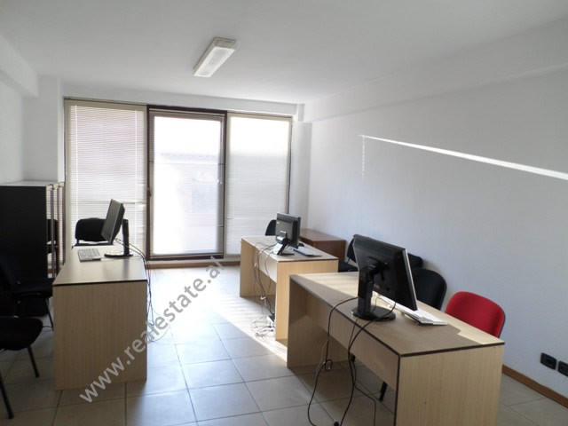 Office for rent near Abdi Toptani Street, in Tirana, Albania. It is located on the third floor of a