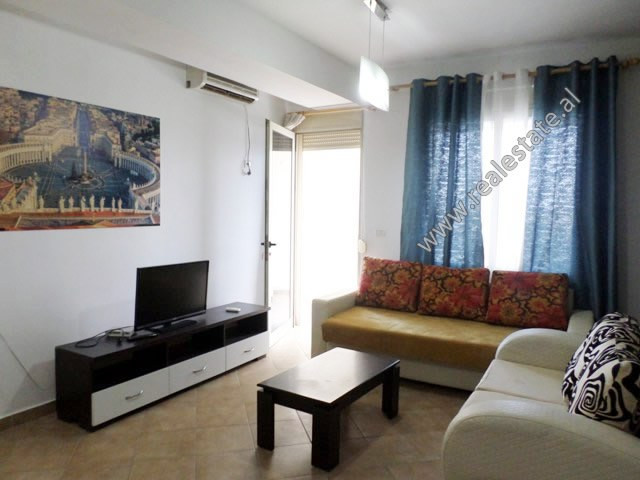 Two bedroom apartment for rent in Reshit Petrela street, in Tirana. It is located on the seventh fl