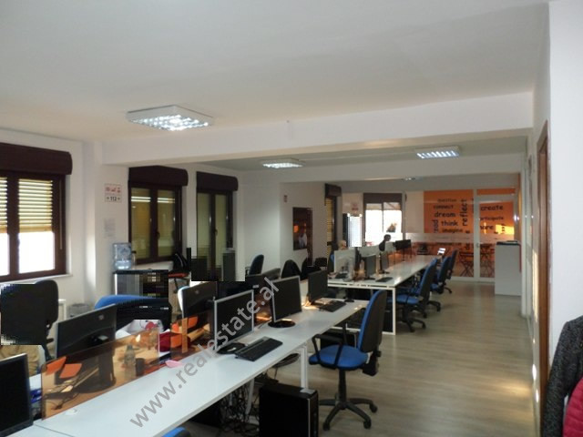 Large office space for rent in Abdi Toptani Street in Tirana, Albania.