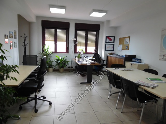 Office for rent in Abdi Toptani street in Tirana, Albania. It is located on the third floor of a bu