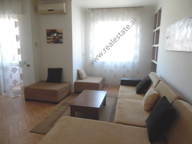 One bedroom apartment for rent near 21 Dhjetori area in Tirana, Albania  It is located on the fift