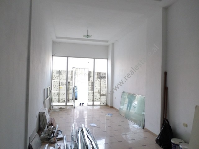 Store space for rent in Don Bosko street in Tirana, Albania.