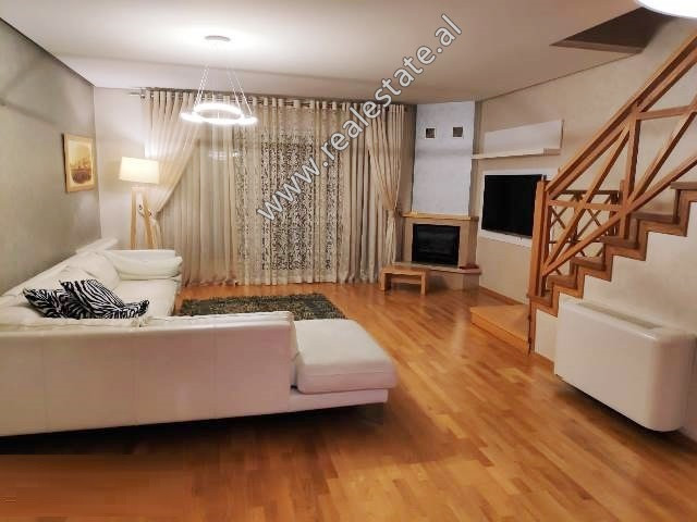 Modern two bedroom apartment for rent in the Kodra e Diellit Residence in Tirana.