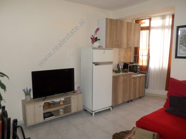 Studio apartment for rent in Andon Zako Cajupi in Tirana, Albania  The flat is located on the firs