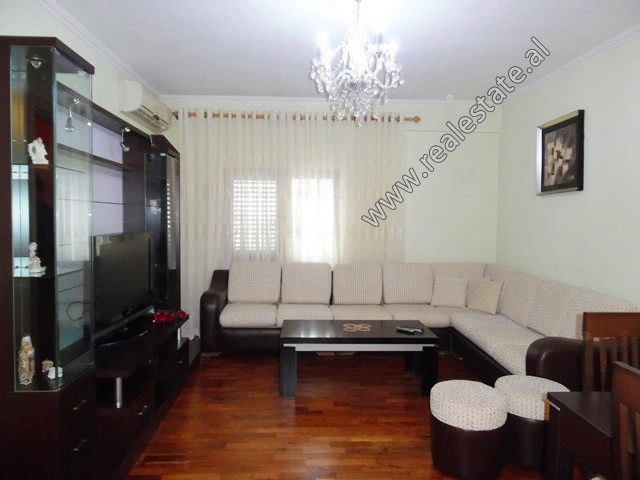 Two bedroom apartment for rent in Eshref Frasheri Street in Tirana. It is situated on the 5-th floo