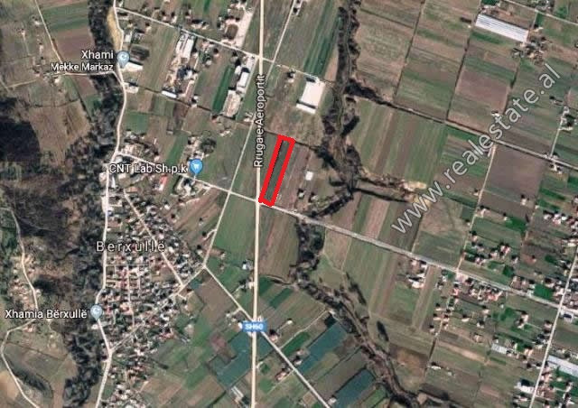 Land for sale near Airport Street in Tirana. It is located near the main road, with direct access t