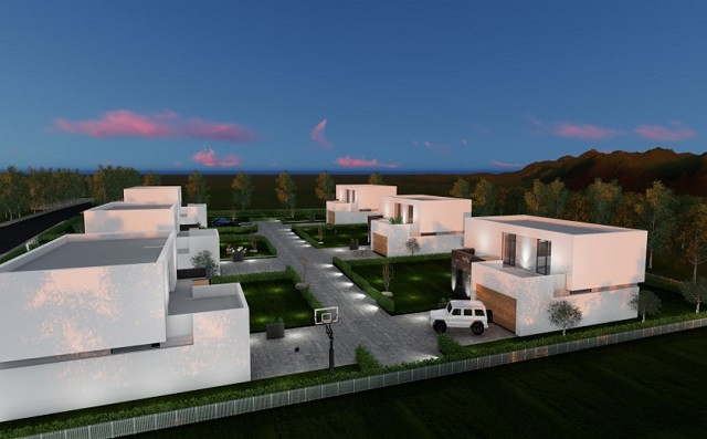 Villa for sale in a luxury complex in Vishaj in Tirana, Albania.