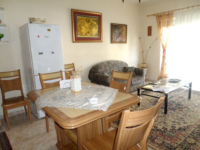 Two bedroom apartment for rent near Faik Konica school in Tirana, Albania. It is located on the sec