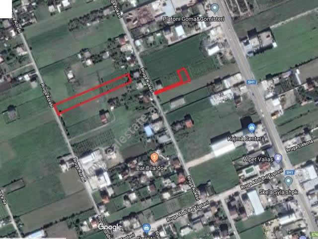 There are offered 2 lands for sale in Valias area, in Kukesi street in Tirana, Albania.