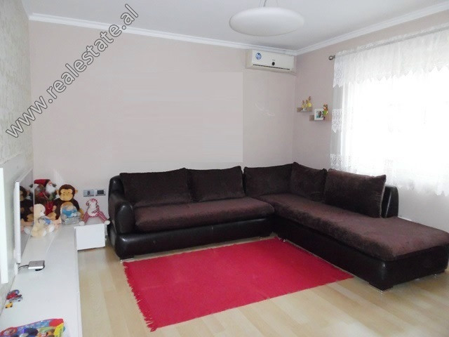 Two bedroom apartment for sale close to Mine Peza Street in Tirana. It is located on the 3rd floor