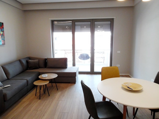Two bedroom apartment for rent in Delijorgji complex in Tirana, Albania.