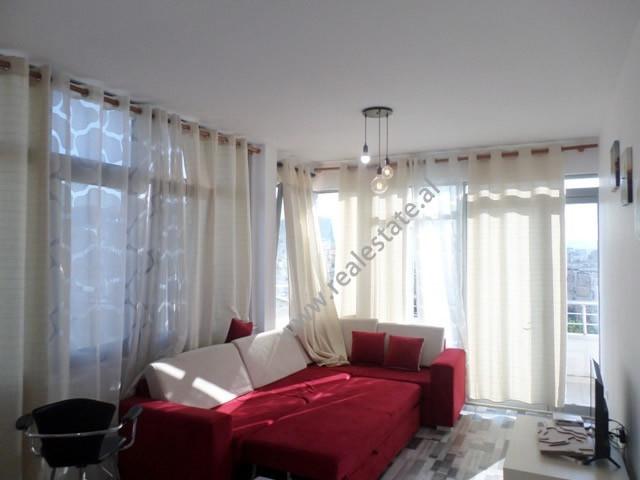 Apartament 1+1 me qera ne zonen e Vasil Shantos, ne rrugen Sulejman Delvina ne Tirane.  Ndodhet ne