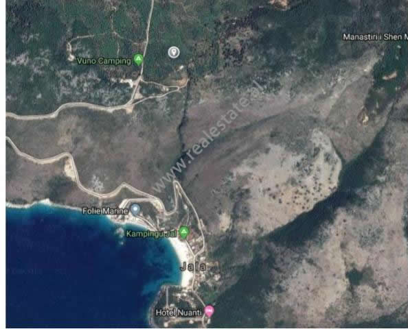 Land for sale near the coast of Jala. It is located around 1 km from the sea. It has an area of 12