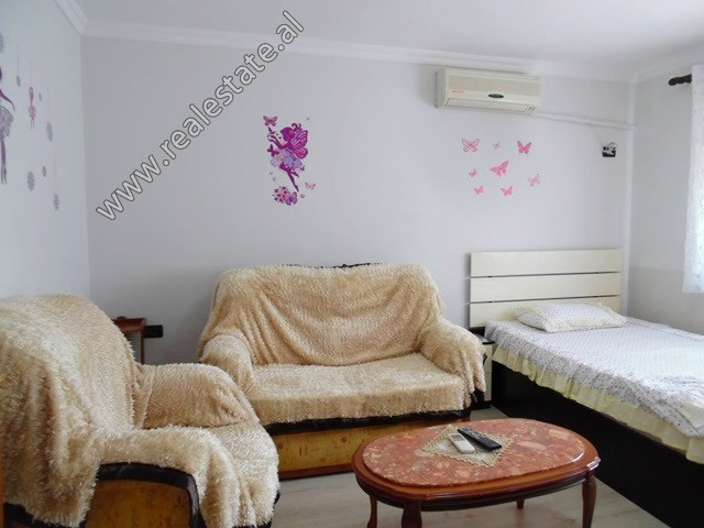 One bedroom apartment for rent close to Faik Konica School in Tirana.