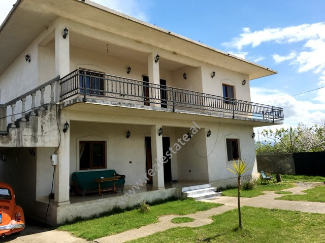 Two storey villa for sale in Gryke Lumi area in Lezhe, Albania.