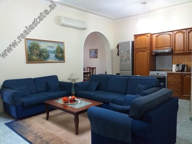 Two bedroom apartment for rent in Brigada VIII Street in Tirana.  It is situated on the 4th and la