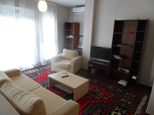 Three bedroom apartment for rent in Mujo Ulqinako street in Tirana, Albania.