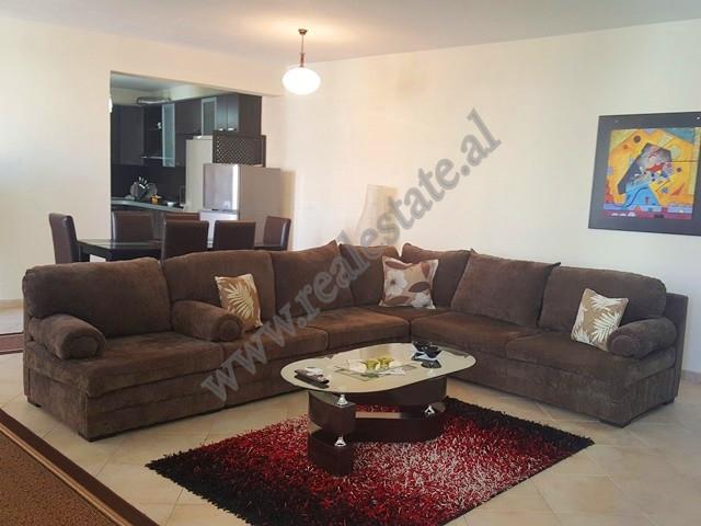 Me nje siperfaqe te brendshme prej 162 m2 apartamenti eshte i organizuar ne: sallon bashke me kuzhin